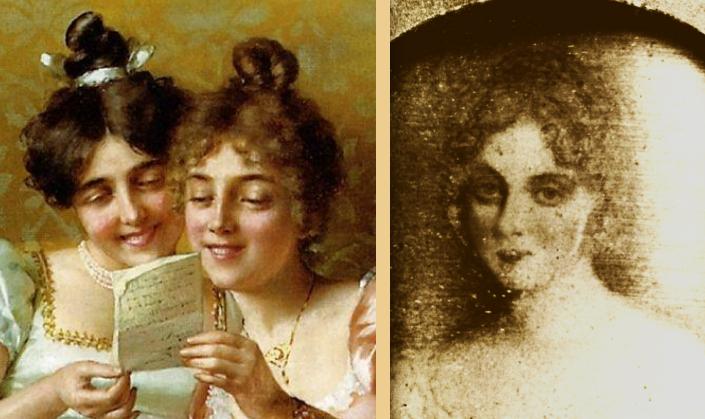 Catherine and Anne Disney reading Hamilton's Valentine poem