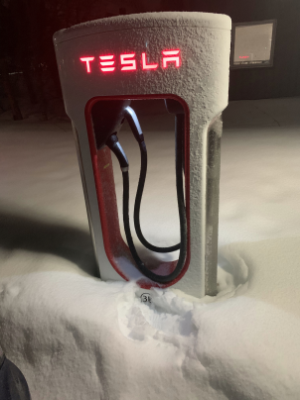 The most northern Tesla supercharger in the world
