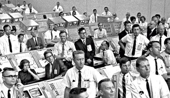 Three women in the Apollo 11 Firing Room.