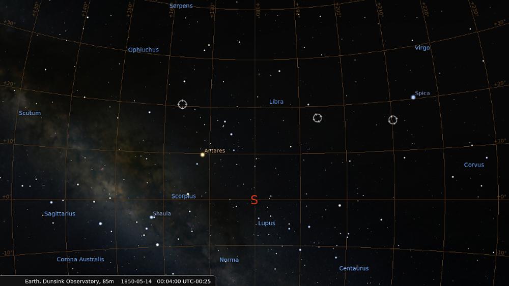 Hamilton's 1850 meteor